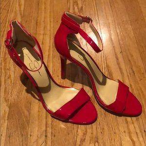 Jessica Simpson red heels size 11
